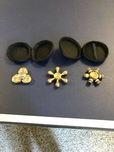 Fidget spinners with cases