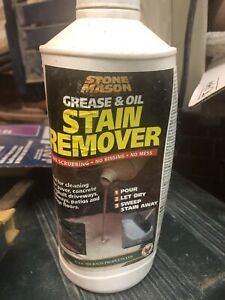 Oil and grease driveway stain remover