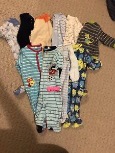 10 Pairs of 6-12 Month PJ / Pajama