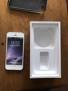 iPhone 5S - Unlocked - silver with charger and earphones
