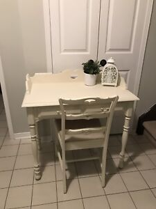 Shabby chic refinished desk and chair