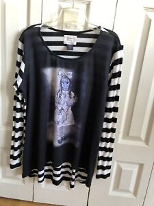 Antique Horror Top by Midnight Hour - L