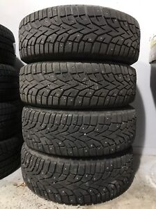 Winter tires 195/65R15 STUDDED  + rims 5x112