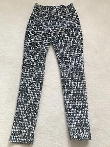 Black velvet and white leggings. EXCELLENT CONDITION!