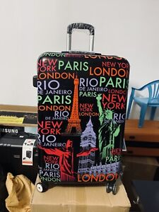 Hard cover printed suit case 28 inch