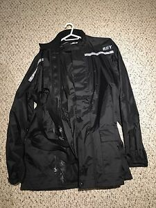 Rhyno Motorcycle Rain Suit - XL - Black -NEW
