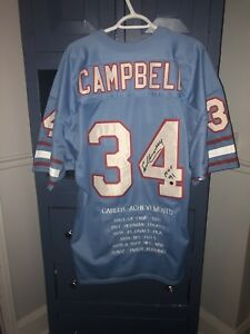 Signed Earl Campbell Houston Oilers jersey