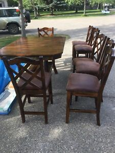 High top kitchen table with chairs