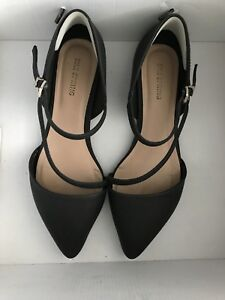 Black Pointed Toe Flats - size 8