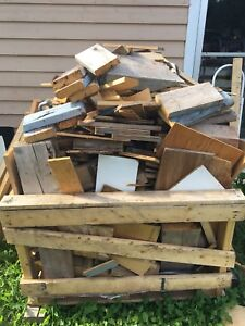Crate of firewood