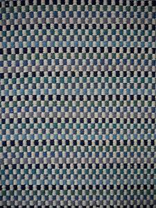 New Blue Multi Braid Paddle Square Geometric Flatweave Wool Rugs Melbourne CBD Melbourne City Preview
