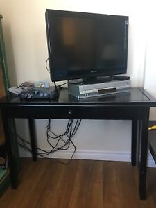 Simple, sturdy black desk