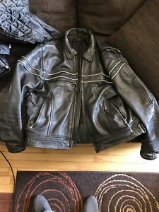 Leather motorcycle vintage jacket