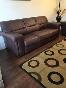 Selling 2 Quality Leather Couch Set