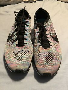Multicolour Nike Flyknit Racers size 10 in Perfect Condition