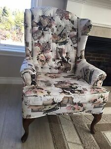 Beautiful wing back accent chair