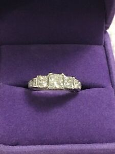 Engagement Ring / Past Present Future Ring