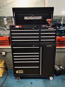 Mastercraft tool box/ tool drawers top and bottom