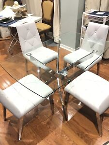 New chrome legs dining room sets $700