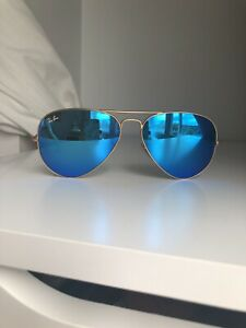 Ray Ban Blue Flash Aviator Sunglasses