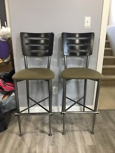 2 barstool height chairs
