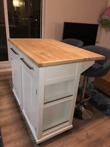 **Beautiful White Kitchen Island Only $200**