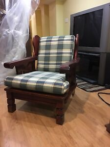 Solid wood chair and sofa