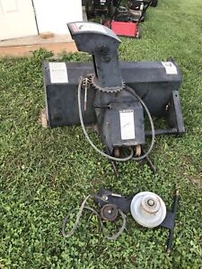 Snow blower for lawn mower or tractor