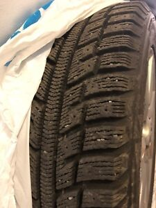 Winter tires with Mazda mags