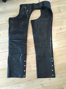XL LEATHER CHAPS