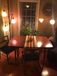 Mid Century Walnut Dining Set Includes Credenza