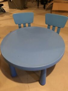 IKEA kids table and 2 chairs