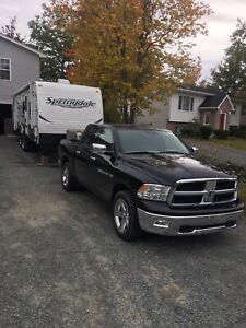 Truck and Travel Trailer Combo.