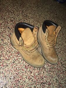 2 pairs of timberland construction boots