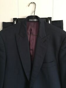 Indochino blue sharkskin slim fit suit Size 38R