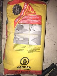 Sika self-leveling underlayment, repair concrete, thin set morta