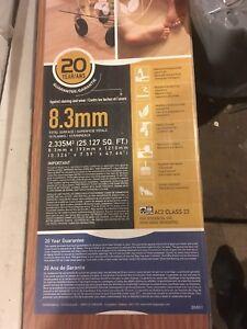 1 box of laminate flooring