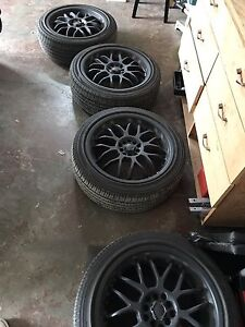 "18"" rims. W/ 225/45r18 Yokohama all seasons"