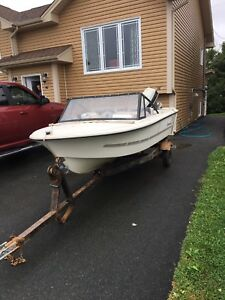 14 ft Peterborough boat, Motor and trailer.