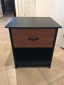 Brown and black Wooden nightstand
