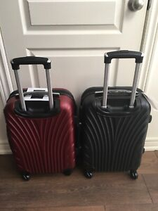 "Brand new 4 spinner wheels STANDARD 19"" CARRY ON Hard Case"