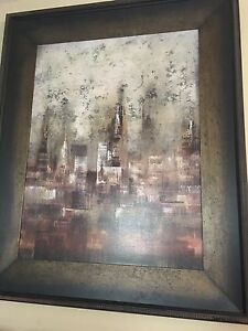 Bombay Company New York Cityscape Artwork