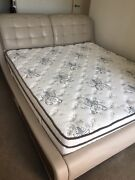 King Size Bed - Top Cow Leather (Free Latex Mattress) Moorabbin Kingston Area Preview