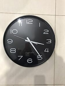 40cm black wall clock cooper & co. Moorebank Liverpool Area Preview
