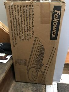 Fellowes adjustable keyboard tray with mouse pad arm