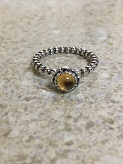Pandora November Citrine Birthstone Ring