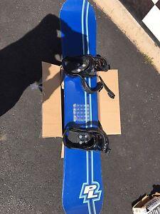 Snow board and Burton Freestyle bindings