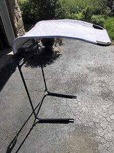 Riding mower canopy