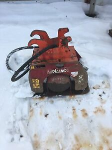 Allied excavator hoe pack plate compactor