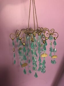 Small Turquoise Chandelier